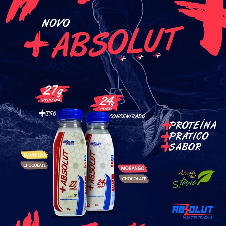 Chegaram as novas versões de Whey Protein da Absolut Nutrition!